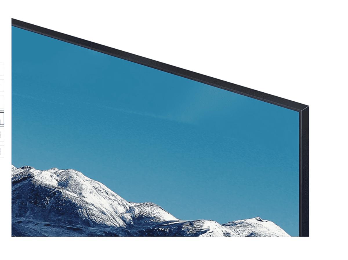 """Detalle de la TV Samsung UE55TU8505 55"""" Crystal UHD 4K"""