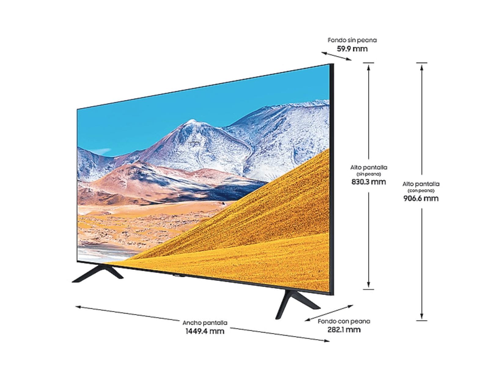 """Dimensiones de la TV Samsung UE43TU8005 43"""" Crystal UHD 4K"""